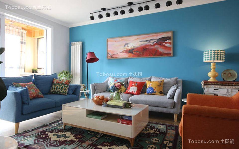 128平北欧风格三居室装修效果图