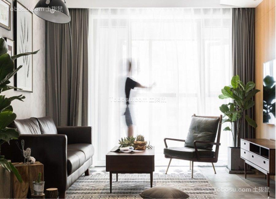 【众意装饰】龙腾万都汇139平北欧风格三居室装修效果图