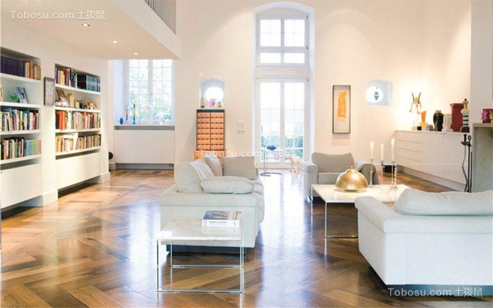 奥克斯盛世华庭复式风格三室二厅简约装修效果图