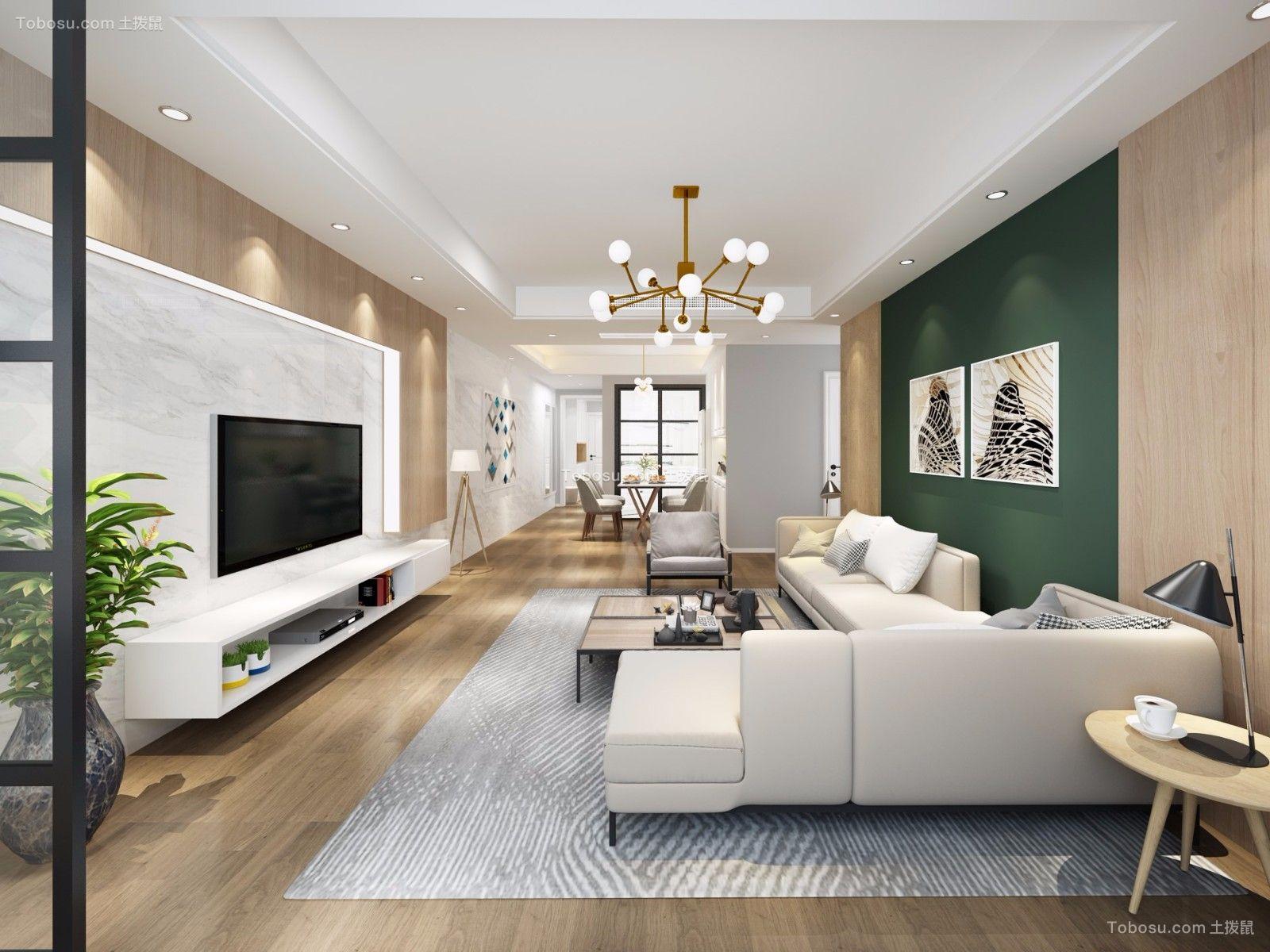 客厅灰色沙发现代风格装修设计图片