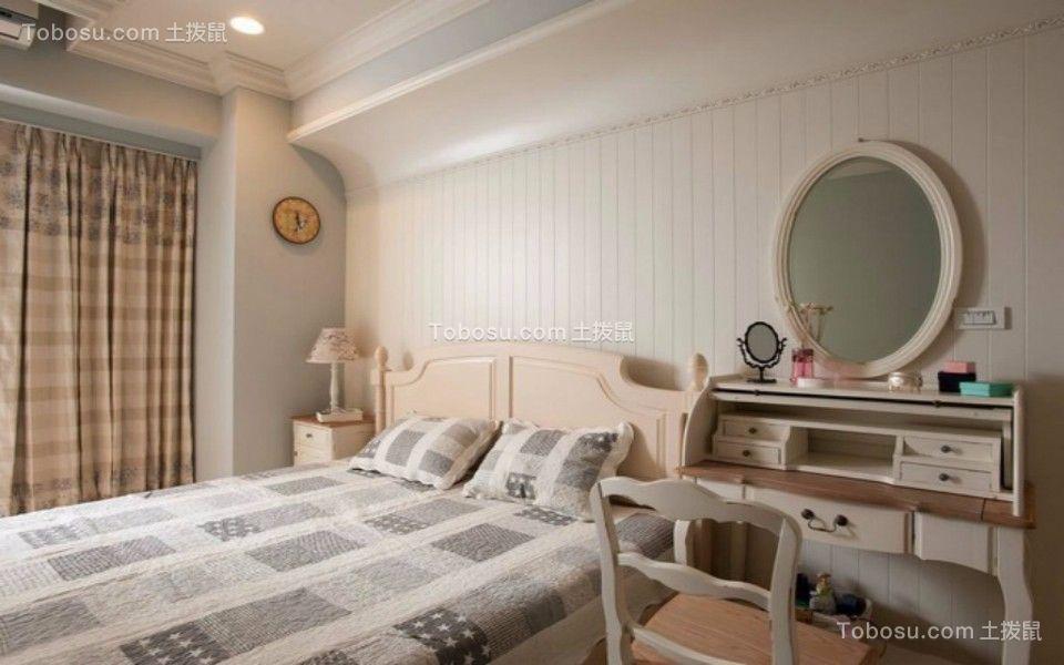 卧室白色梳妆台田园风格装饰效果图