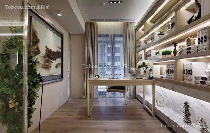 书房白色书桌现代风格装饰效果图