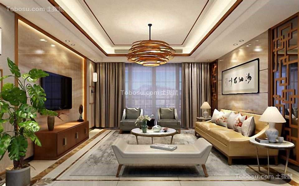 新中式风格188平米四室两厅新房装修效果图