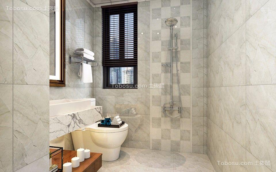 卫生间灰色地砖中式风格装修效果图