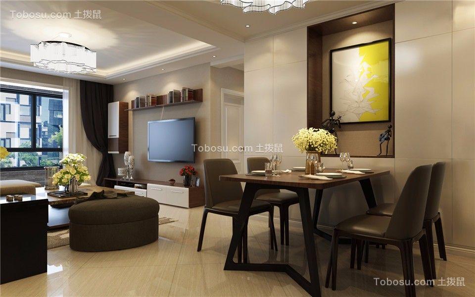 太原府东公馆117平米现代简约风格效果图
