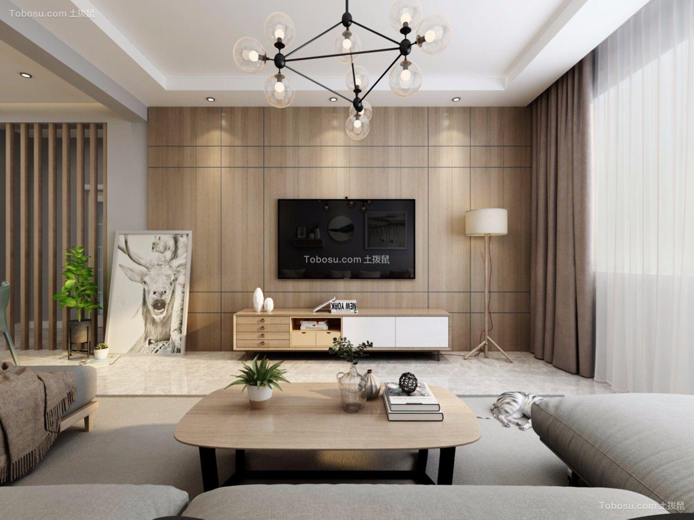 88平米北欧风格二居室装修效果图