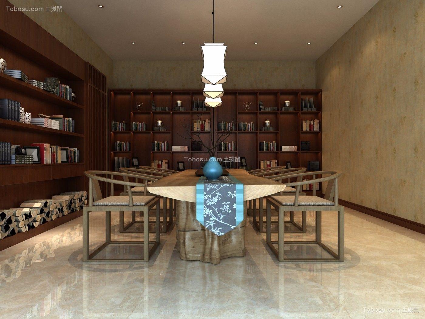 书房白色书桌现代风格装修效果图
