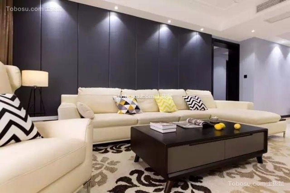 雨润城127平现代简约风格三居室装修效果图