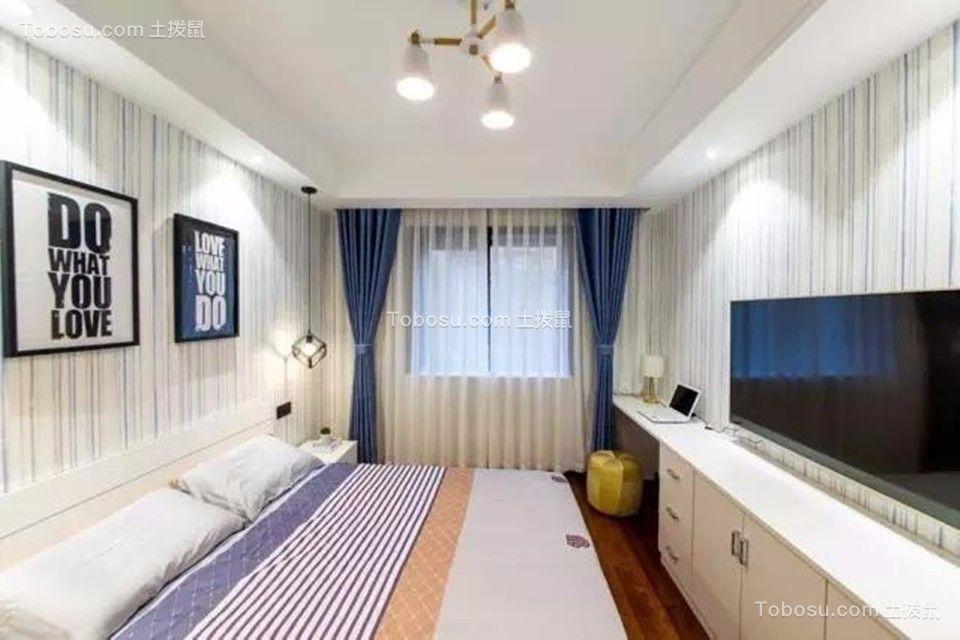 卧室白色电视柜现代简约风格装饰效果图