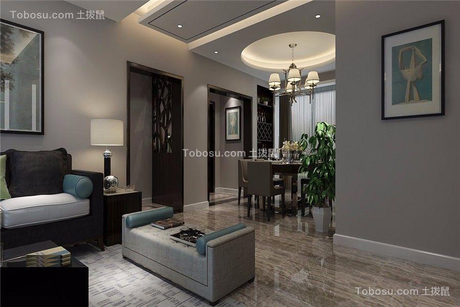 客厅米色背景墙现代简约风格装饰效果图