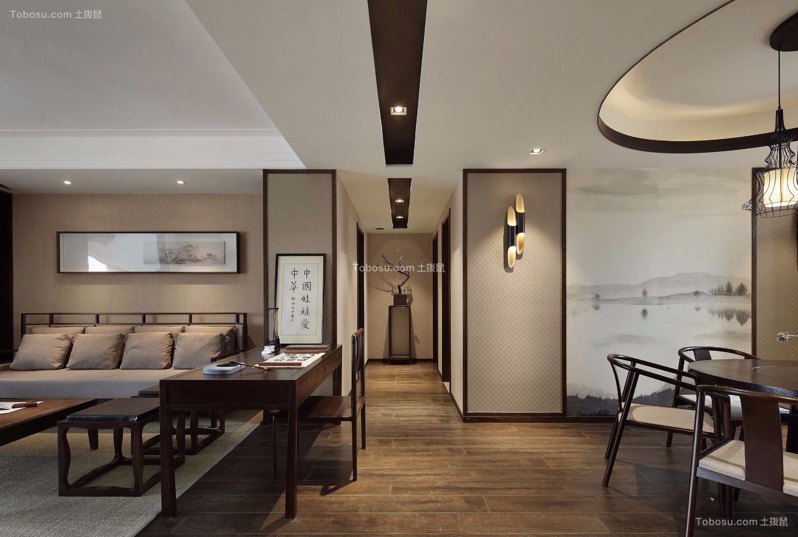 2018新中式客厅装修设计 2018新中式走廊装修效果图大全