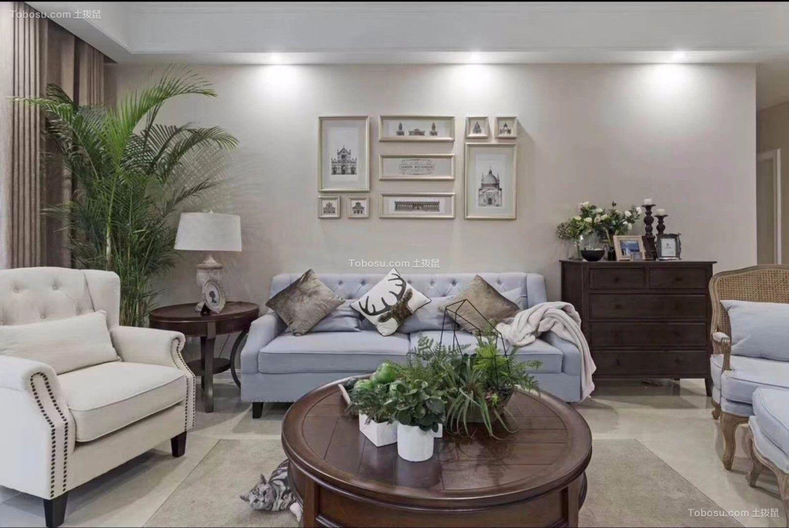 115平  美式风格  三居室 装修效果图