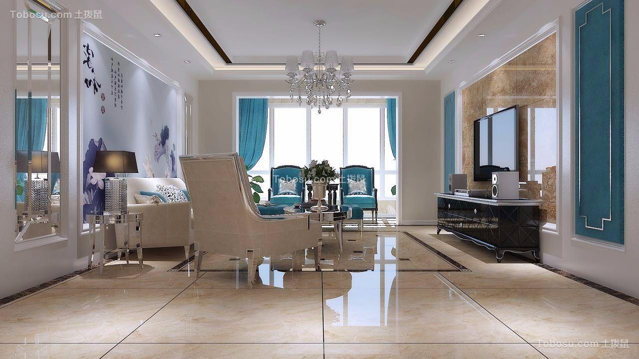 客厅地砖欧式设计效果图图片