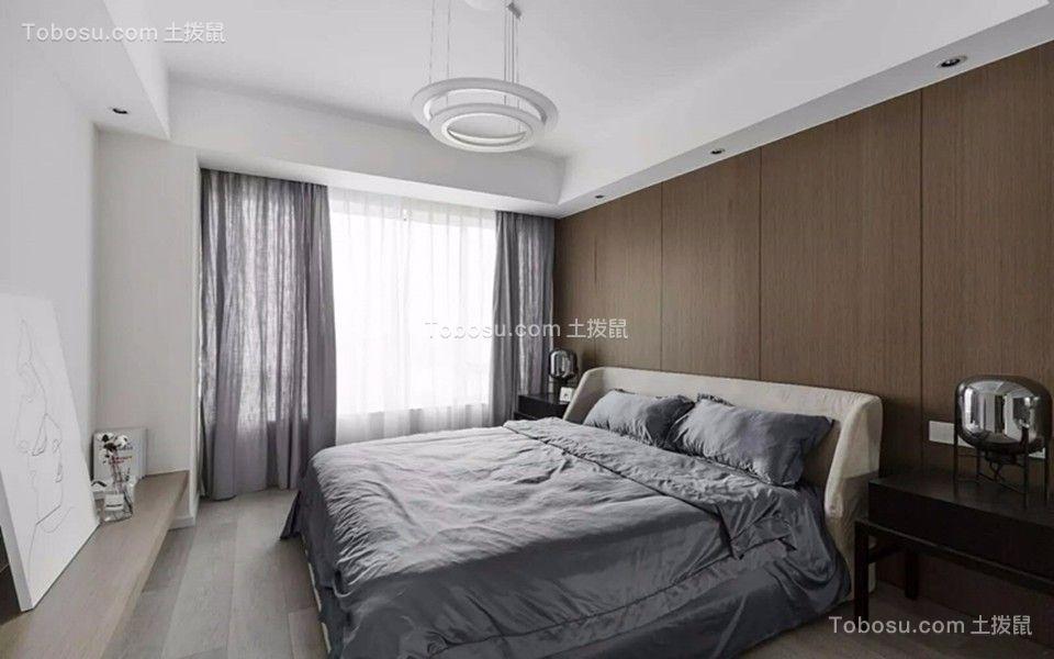 卧室白色床现代简约风格装饰设计图片