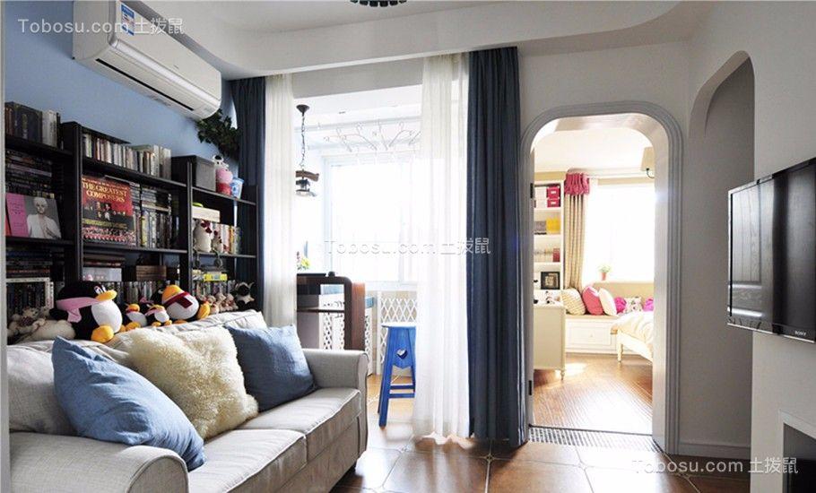 联发欣悦地中海风格67平三居室装修效果图