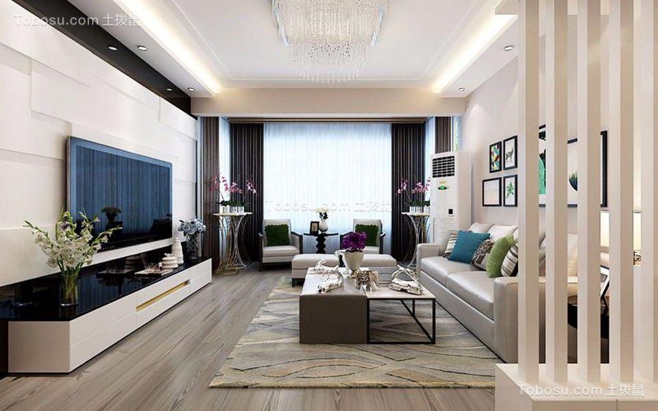 庭院深深116平米现代简约风格三居装修效果图