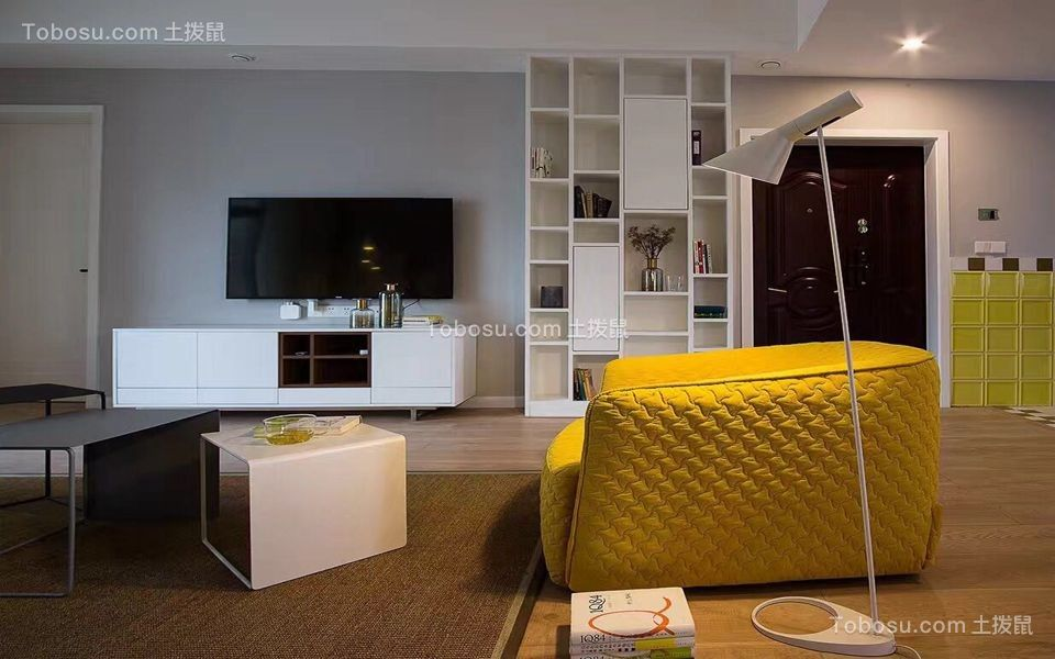 130平北欧风格三居室装修效果图