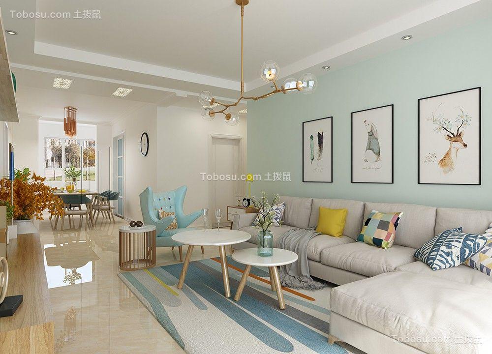 北欧风格143平米3房2厅房子装饰效果图