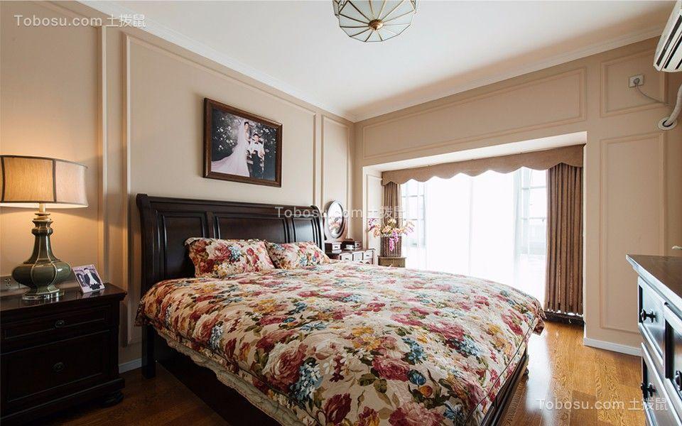 卧室 床_中南世纪雅苑110平米简美风格三居室装修效果图
