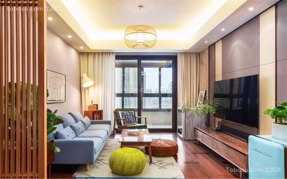 西善花苑家和园85平现代风格三室两厅一卫装修效果图