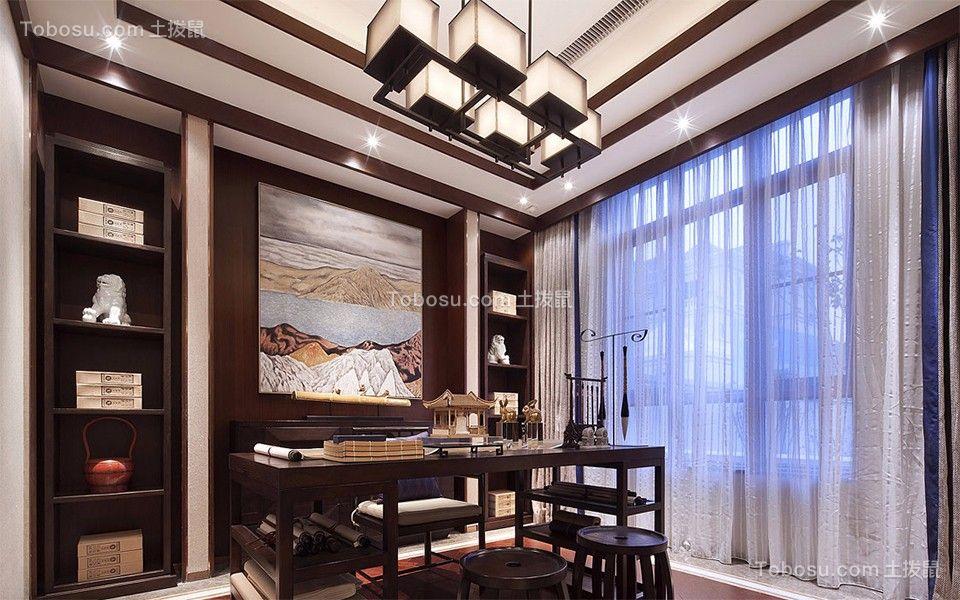 万科粹叠园220平四室二厅新中式装修效果图