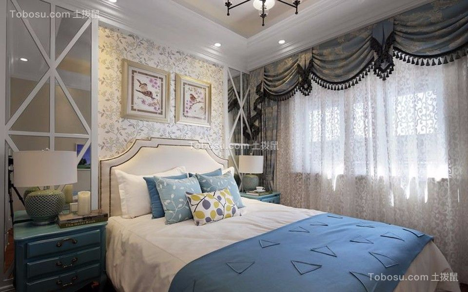 卧室白色地中海风格装修效果图