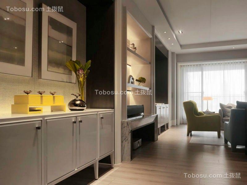 客厅灰色吧台现代简约风格装修效果图