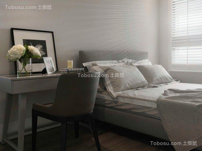 卧室咖啡色床头柜现代简约风格装潢设计图片