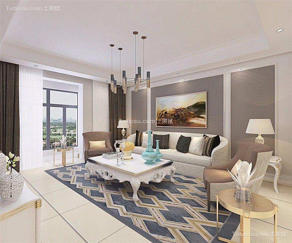 森淼清华园160平现代简约风格二居室装修效果图