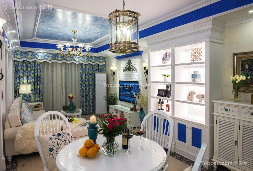 国瑞城三期地中海风格93平三居室装修效果图