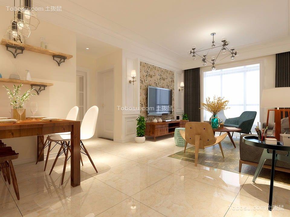 客厅咖啡色茶几现代简约风格装饰设计图片