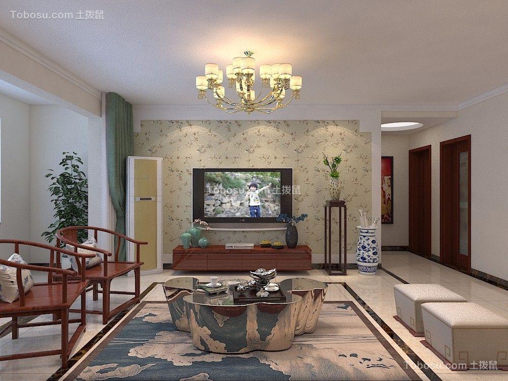 紫云府134平三居室简中式装修效果图