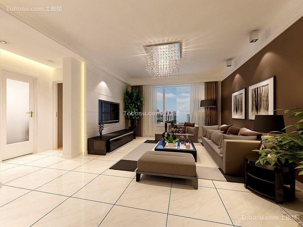 华润凤凰城现代港式风格90平三居室装修效果图