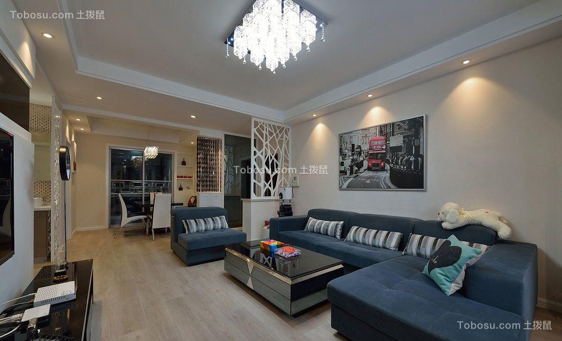 93平中式风格现代2室1厅婚房装修效果图