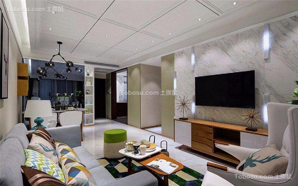 万象公馆103平现代简约三居室装修效果图
