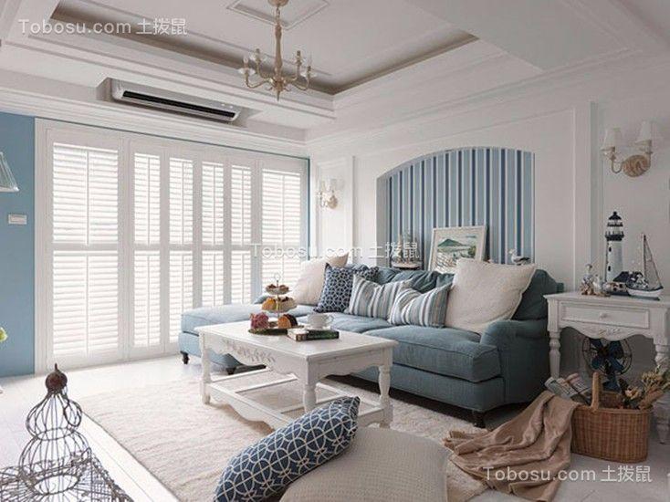 联发欣悦地中海78平三居室装修效果图