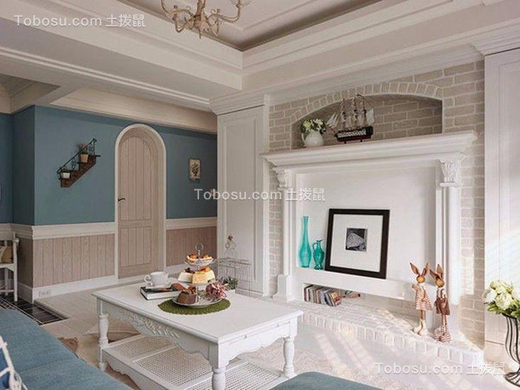 客厅 电视柜_联发欣悦地中海78平三居室装修效果图