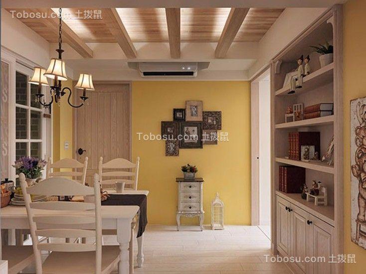 餐厅白色餐桌地中海风格装潢图片