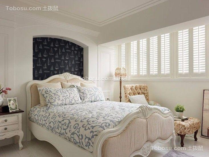 卧室白色床地中海风格装饰设计图片