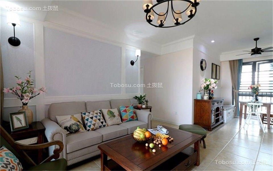 107平美式风格四居室装修效果图