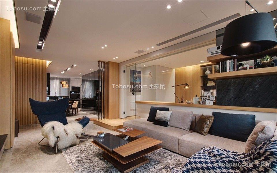 客厅白色吊顶现代简约风格装饰效果图