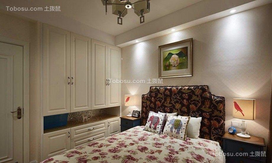 卧室彩色床混搭风格效果图