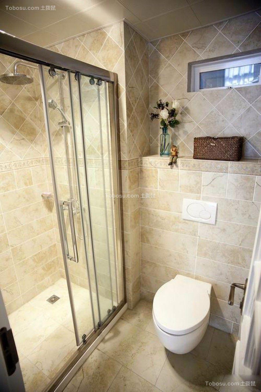 卫生间白色细节混搭风格装潢设计图片