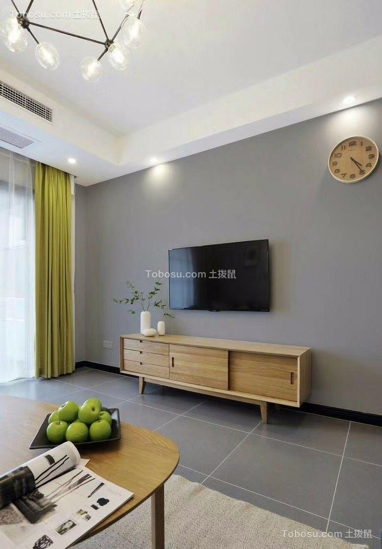 保利城 88平米两居室北欧风格装修效果图