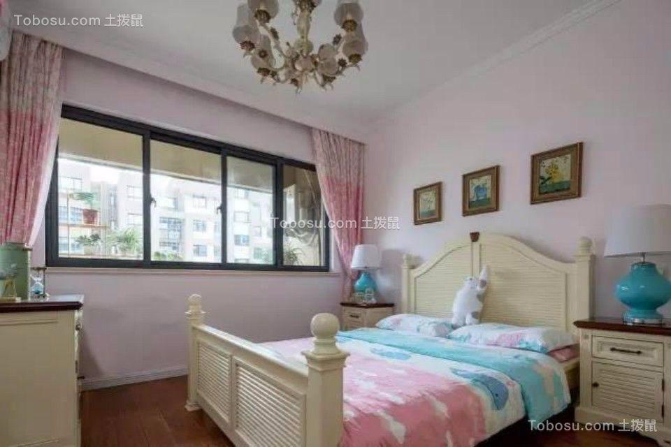 卧室彩色床简欧风格装修效果图