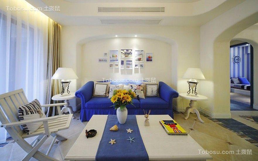 通用晶城田园地中海92平三居室装修效果图