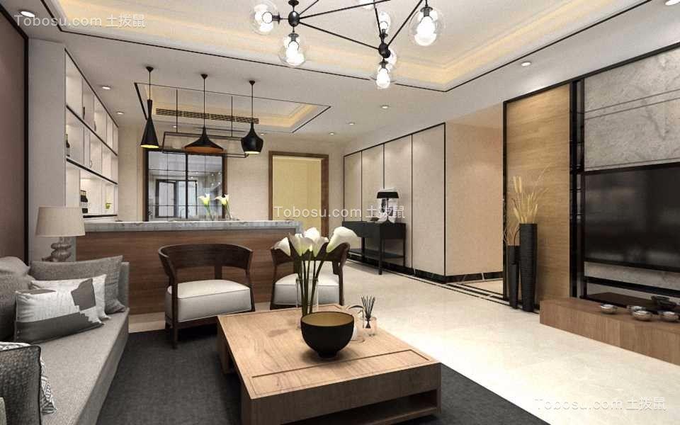 125平方现代简约3房两厅装修效果图