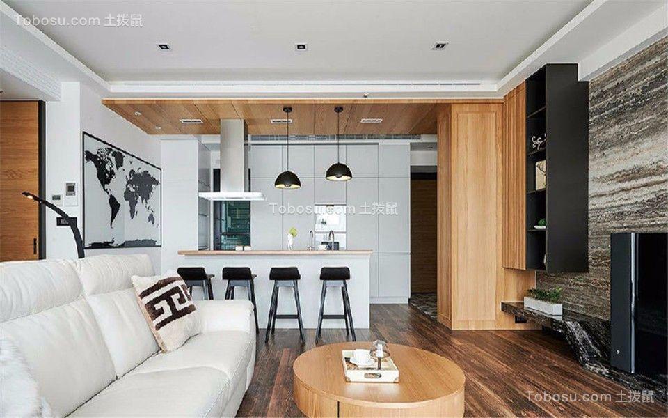 万达江南明珠122平欧式三室两厅两卫装修效果图