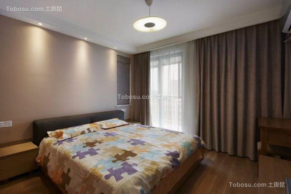 卧室彩色床日式风格装潢图片