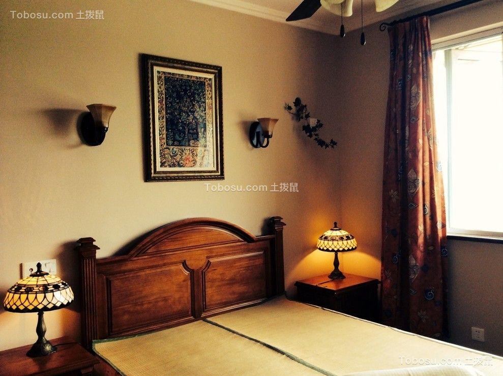 卧室彩色床地中海风格装修效果图